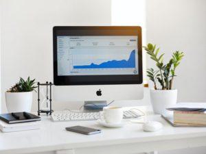 Pantalla gráfico marketing digital